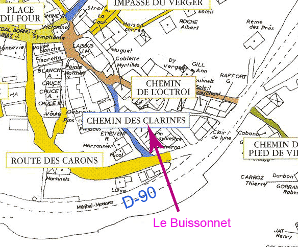 map buissonnet